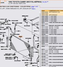 1995 camry v6 ac condenser diagram [ 1051 x 780 Pixel ]