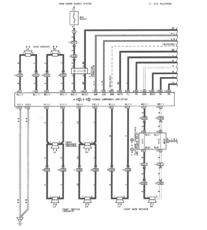93 lexus es300 radio wiring diagram
