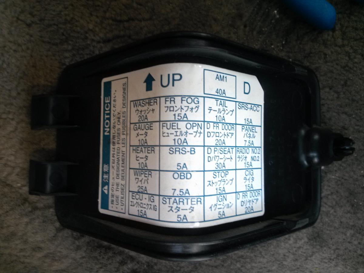 5915a5 1999 Lexus Es300 Fuse Panel Diagram Wiring Diagram General Wiring Library