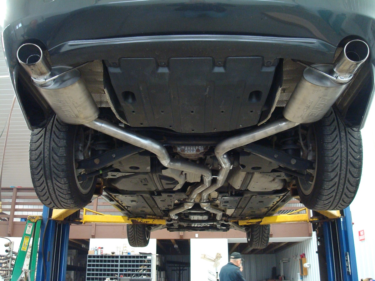 gs350 awd independent exhaust piping