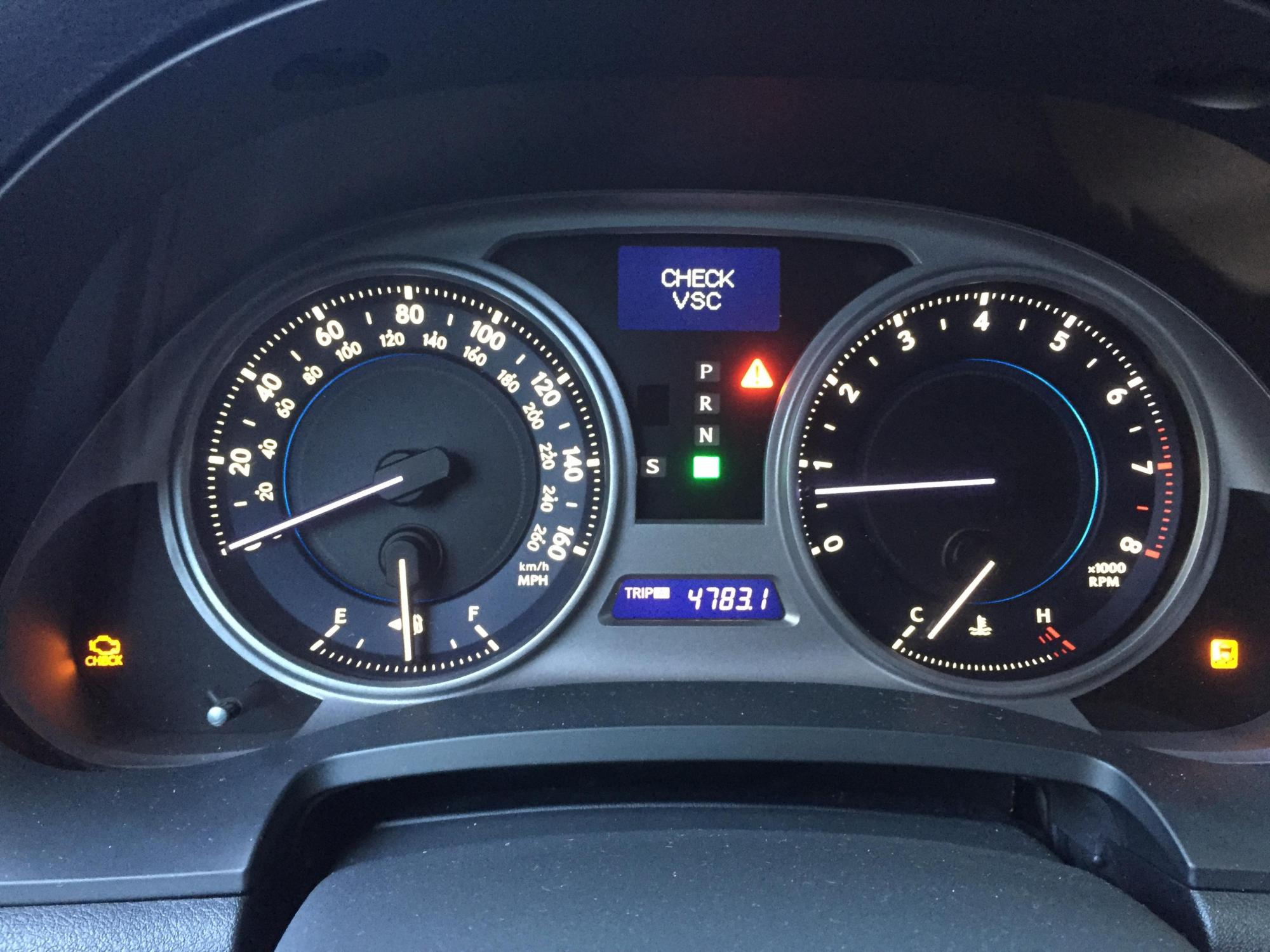 hight resolution of check vsc traction control and check engine lights on problem