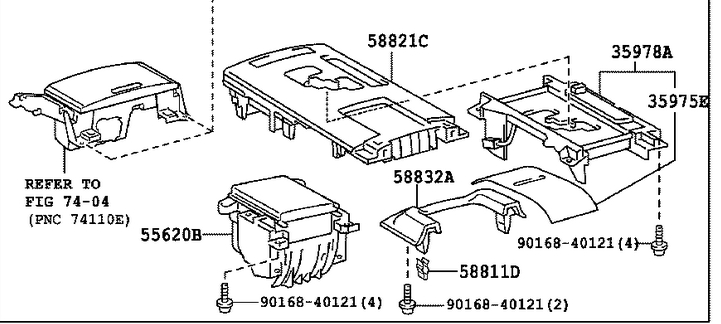 Service manual [2008 Lexus Gx Center Console Removal