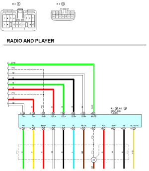 Requesting a wire color identification on 2000 ES300 radio