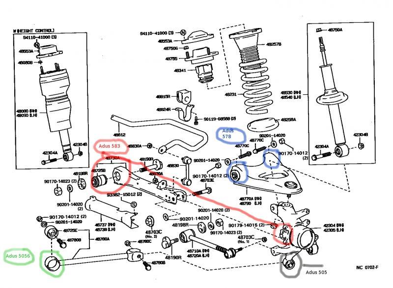 1992 lexus ls400 suspension diagram