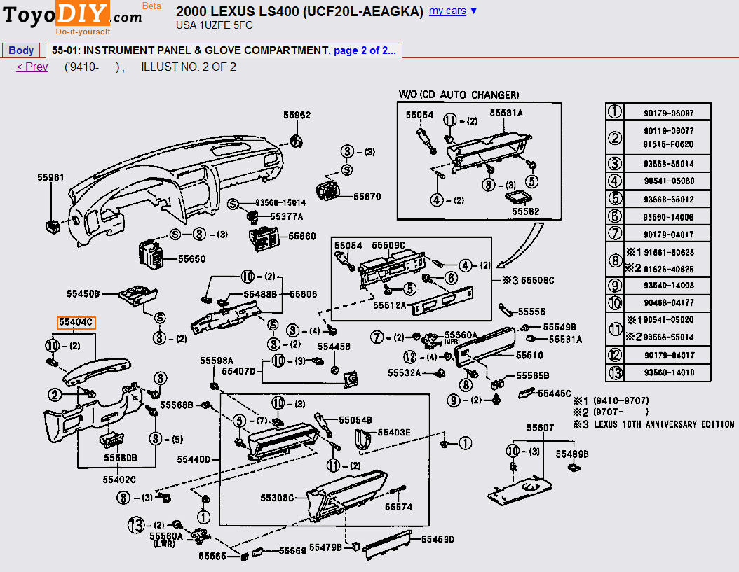 hight resolution of remove and replace instrument panel 1998 2000 ls 2000 ls400 instrument