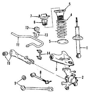 LS400 1997 Suspension Diagram  ClubLexus  Lexus Forum