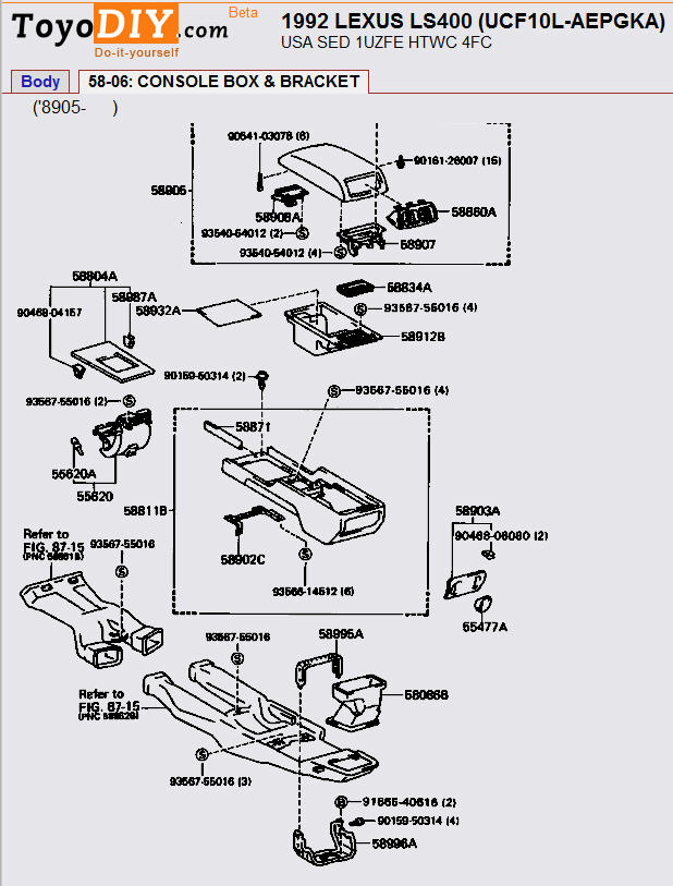 1992 Lexus Ls 400 Engine Diagram