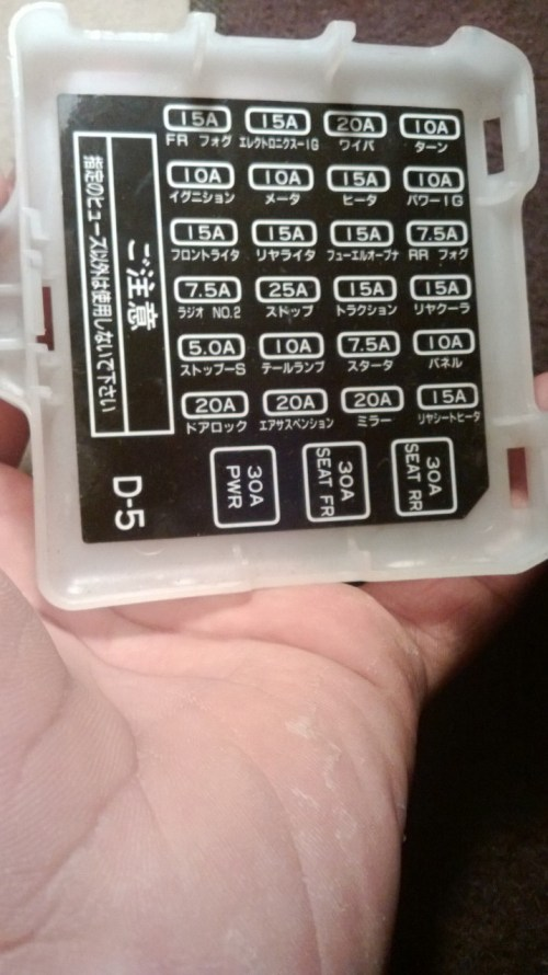 small resolution of 90 camry fuse box