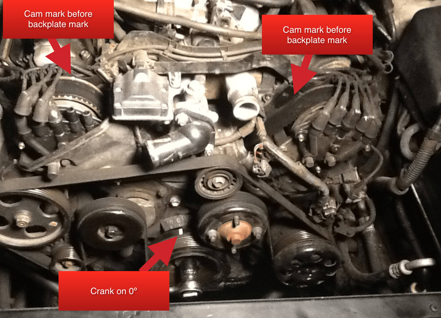 hight resolution of 1997 ls400 timing belt possibly skipped teeth crank on 0 cam