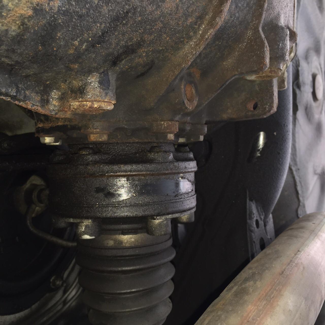 hight resolution of passenger side differential leak image jpg