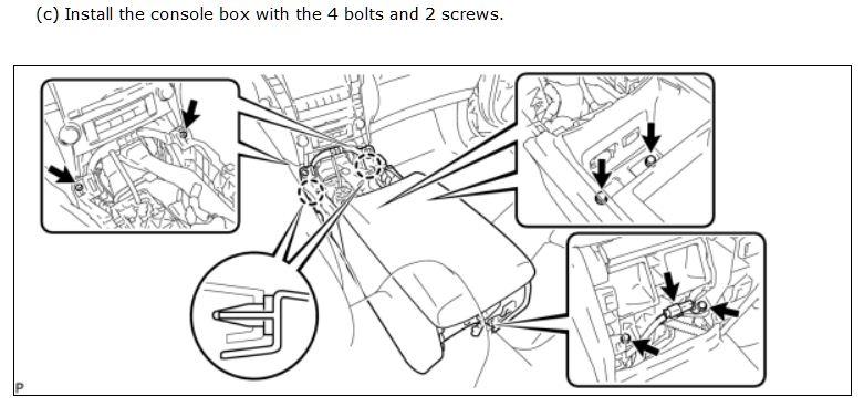 [2002 Lexus Rx Replace Center Console Armrest Lid Latch