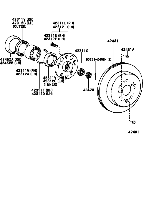 Lexus Wheel Hub Diagram, Lexus, Free Engine Image For User