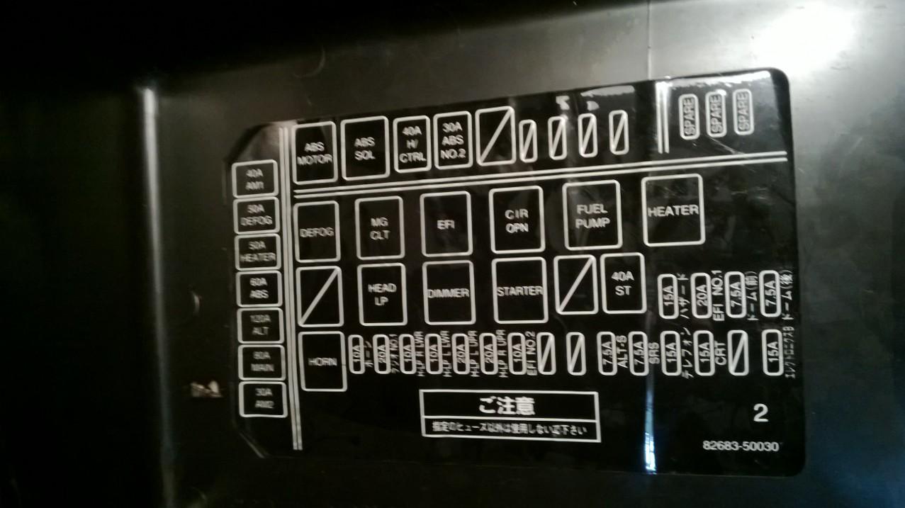 1996 lexus ls400 fuse box