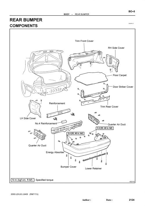 small resolution of is300 rear bumper diagram is300 get free image about wiring diagram 1998 lexus gs300 fuse box