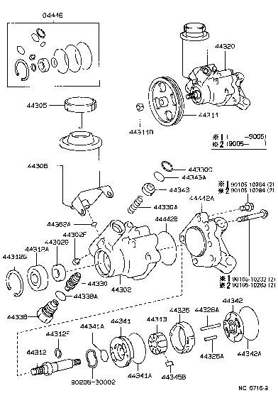 Diagram Furthermore Lexus Power Steering Pump On 1998