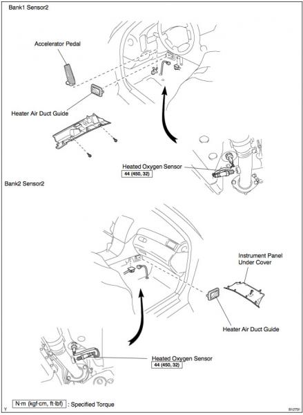 2003 lexus gs300 oxygen sensor location