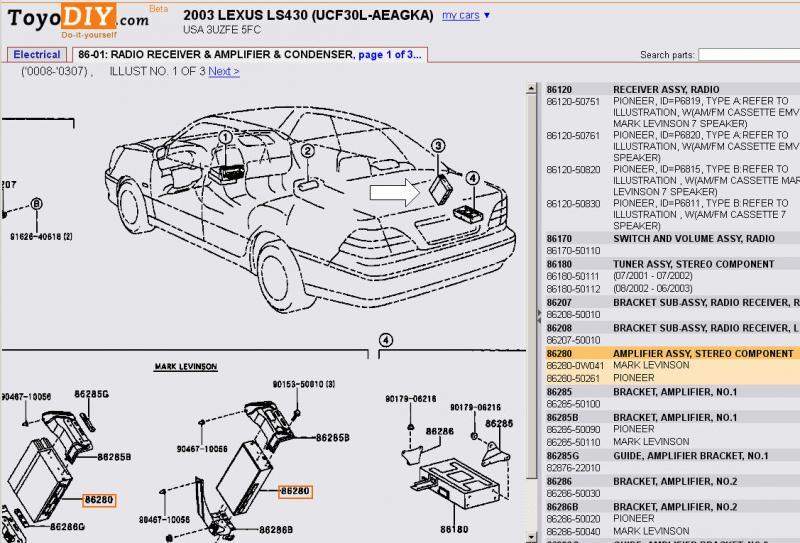 lexus ls430 wiring diagrams