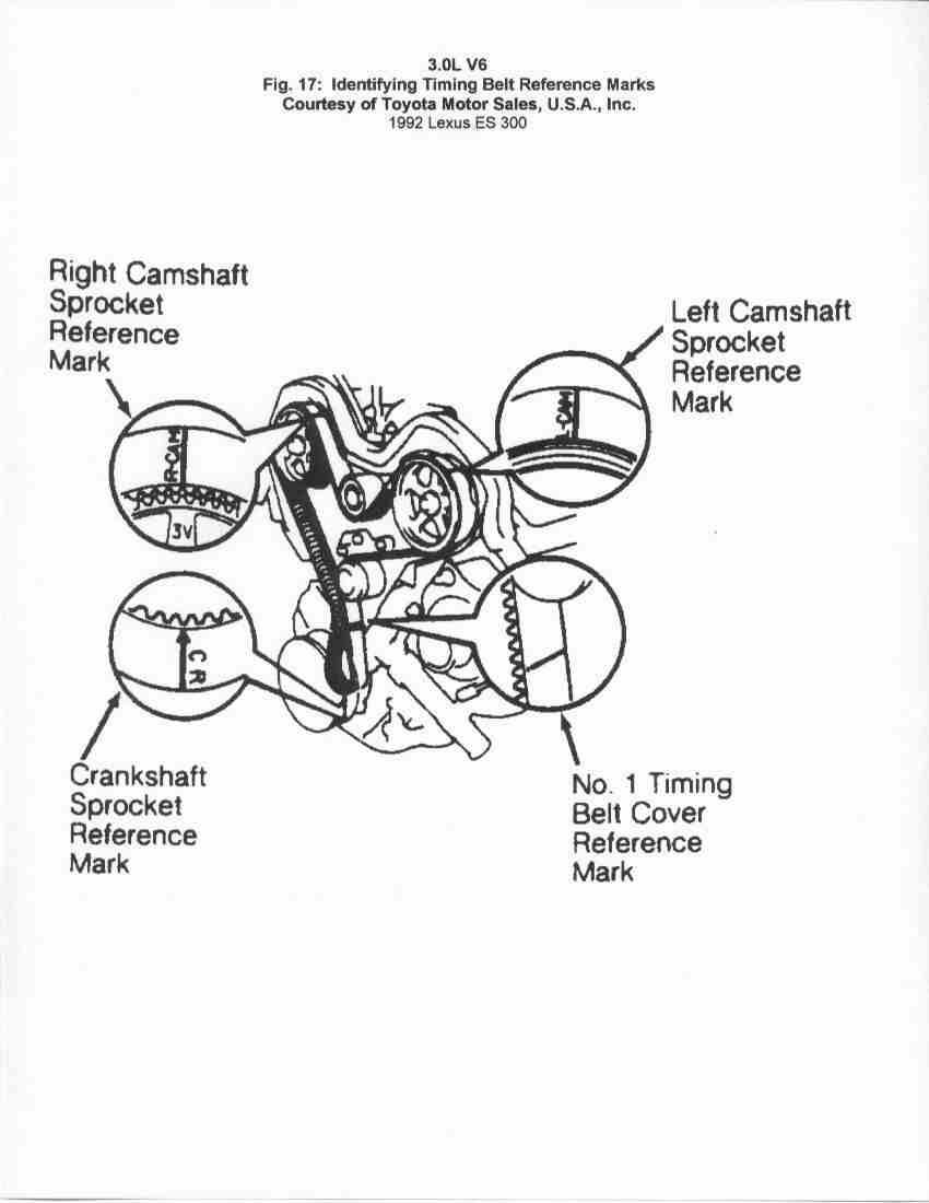 1993 lexus sc 300 serpentine belt routing and timing belt diagrams