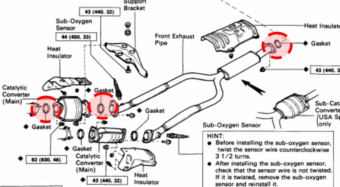 Lexus Sc400 Exhaust Diagram, Lexus, Free Engine Image For