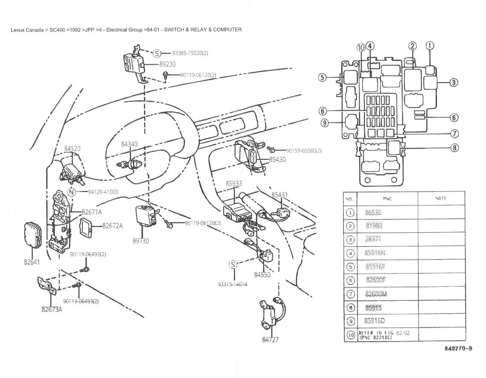 medium resolution of lexus sc300 fuse box location wiring diagram query 1996 lexus sc300 fuse box diagram lexus sc300 fuse box location