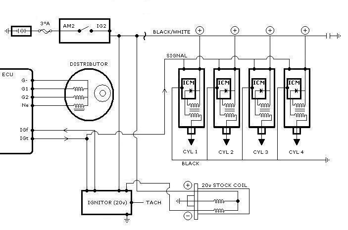 toyota electronic distributor wiring diagram