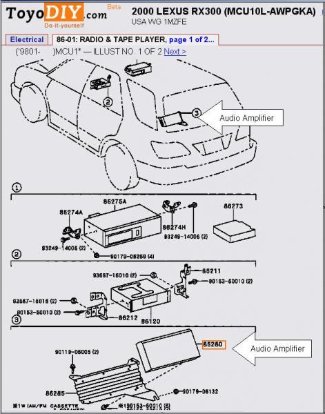 1999 Lexus Rx 300 Fuse Box. Lexus. Auto Wiring Diagram