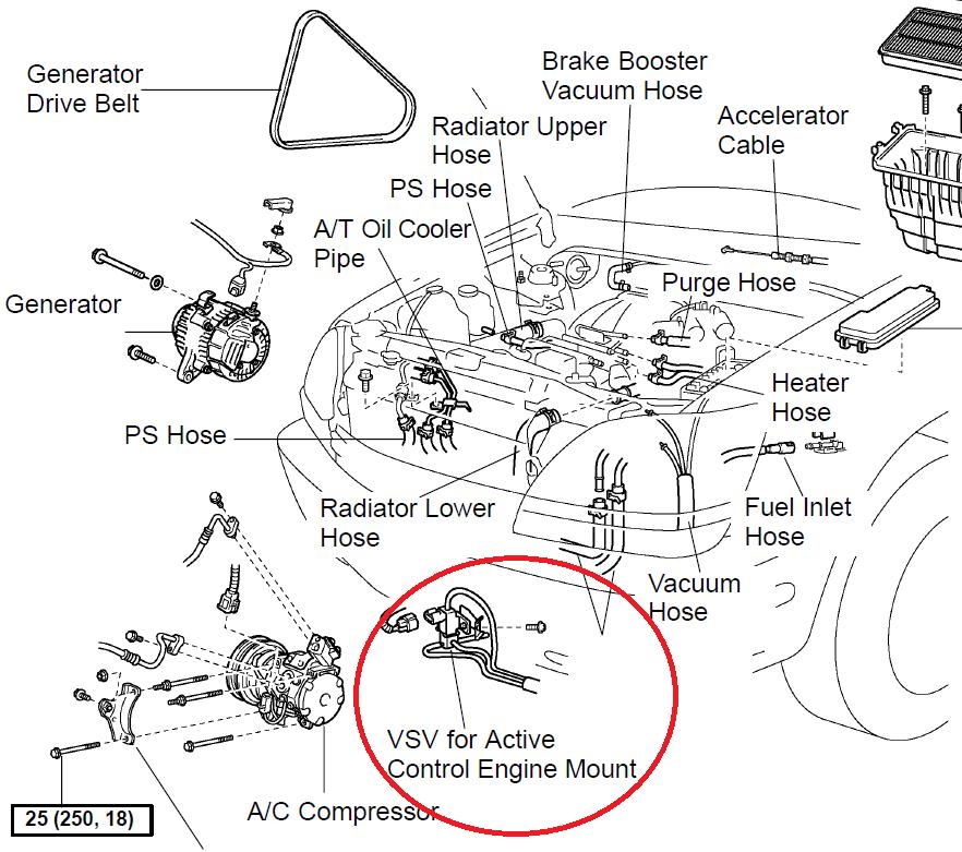 toyota camry engine diagram water pump