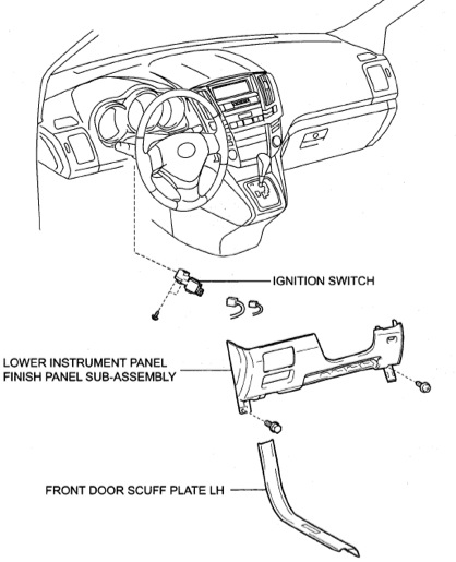 Service manual [2007 Lexus Gx Ignition Switch Replacement