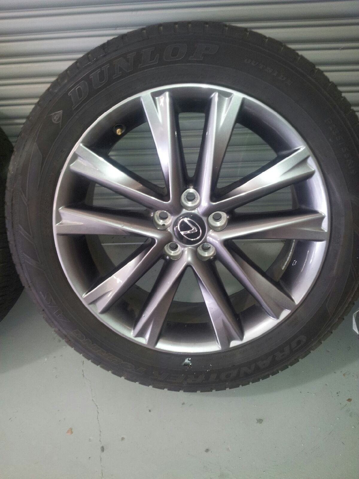"TX OEM 2013 lexus RX350 f sport 19""s wheels and tires less than 5k"