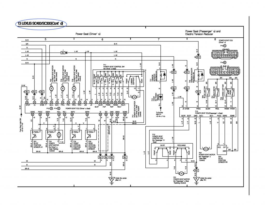 lexus ls400 wiring diagram pioneer car radio 92 sc400 seat auto parts