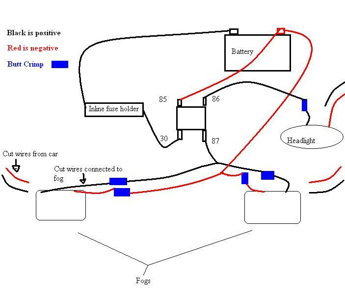 Dc Relay Wiring Diagram For Fog Lights House Wiring