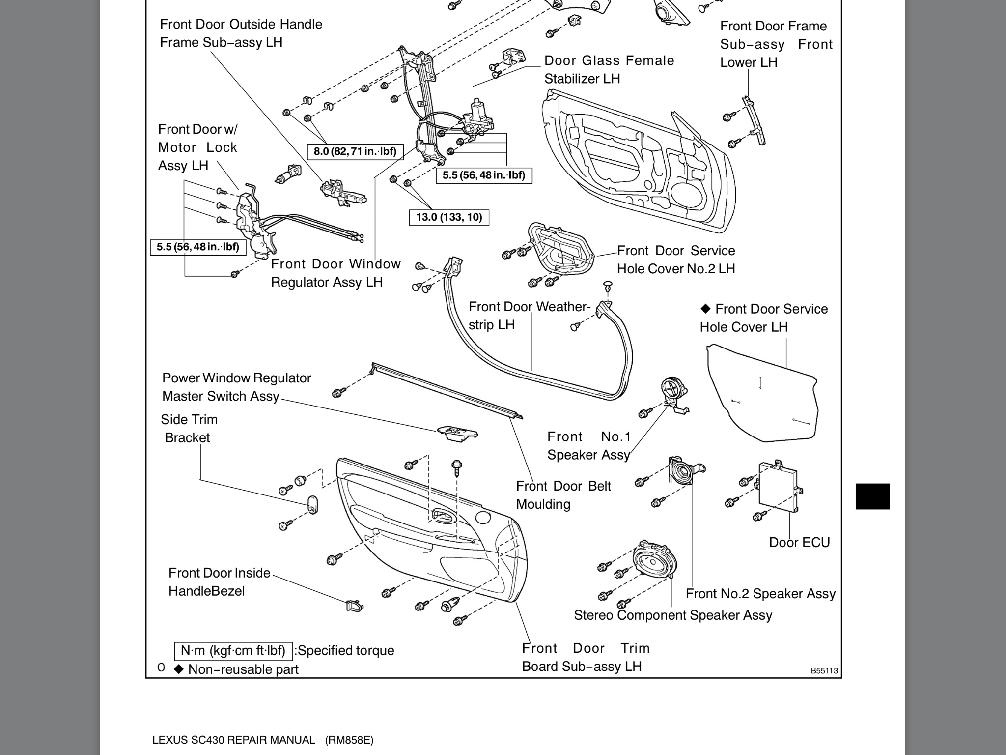 Service manual [How To Remove 1997 Lexus Es Exterior