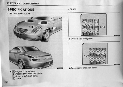 small resolution of sc430 fuse diagram 2002 clublexus lexus forum discussion 1997 lexus es300 fuse box lexus sc430 fuse