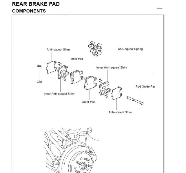 Brake Pad Clips Diagram Pictures to Pin on Pinterest