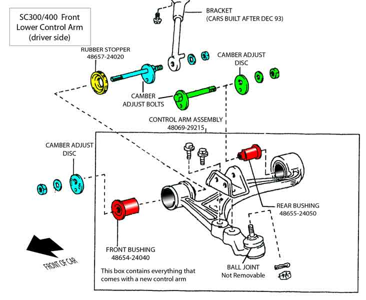 Available Part Diagrams 6 In Front Suspension