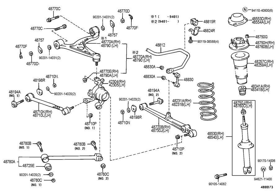 Lexus Suspension Diagram 2002. Lexus. Auto Parts Catalog