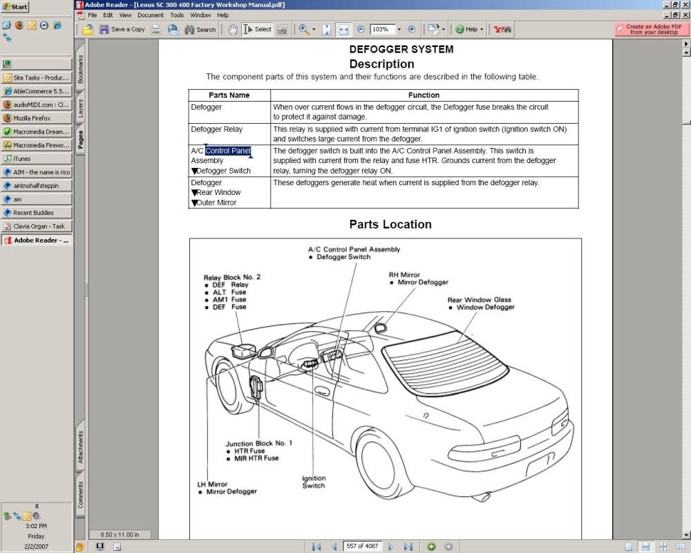 medium resolution of sc300 fuse box wiring librarysc300 fuse box