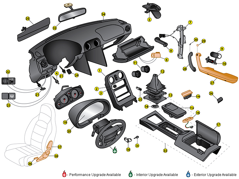 Interior Car Parts Names With Pictures