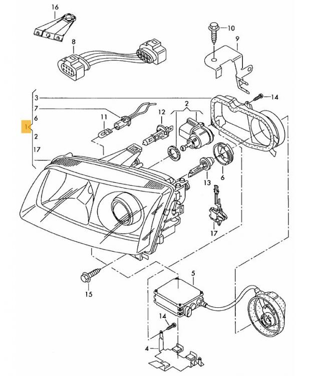 gti xenon headlights diagram