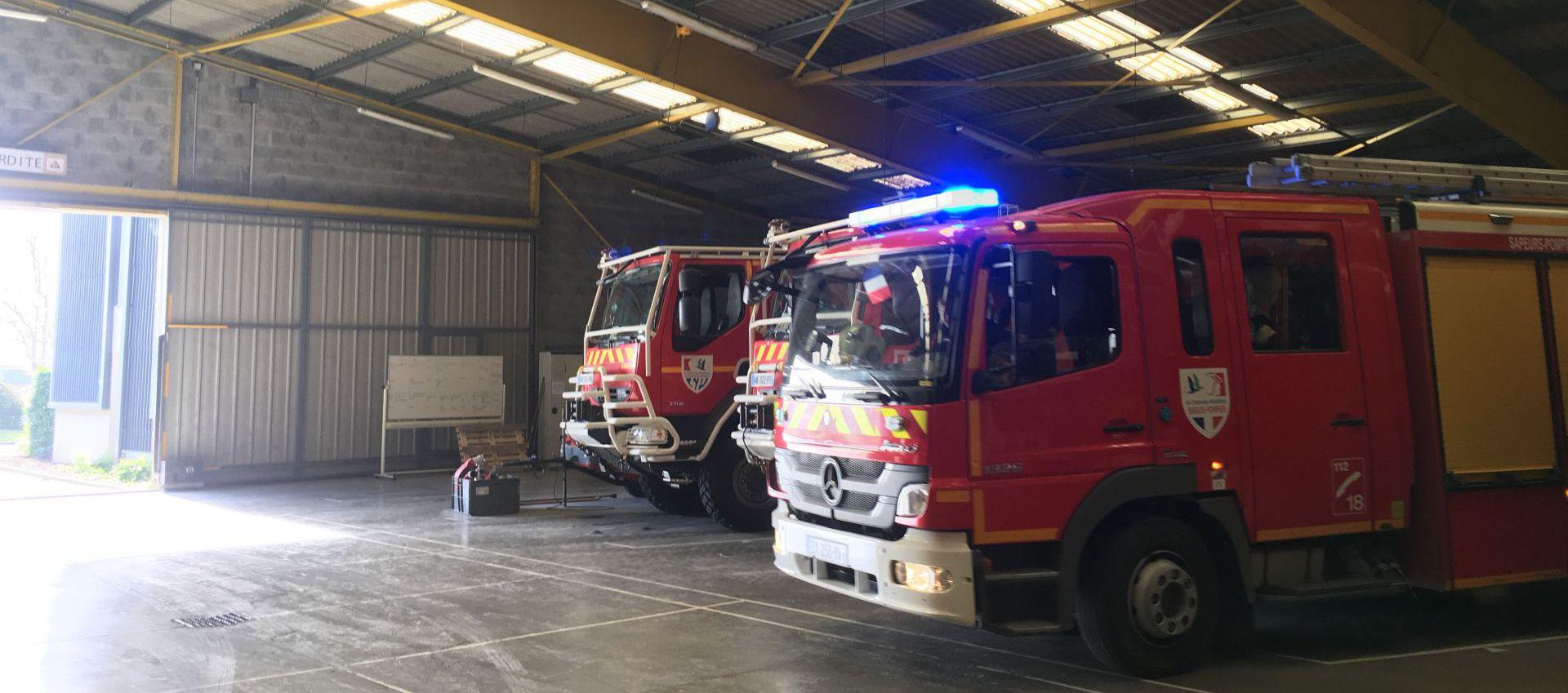 Pompiers-départ