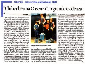 """tratto da """"Calabria Ora"""", 17 Novembre 2008"""