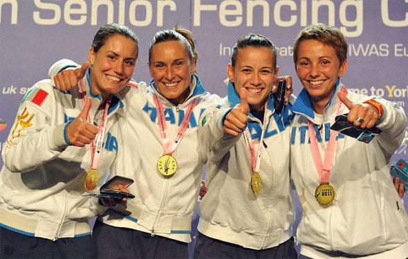 Sciabola femminile Europei Sheffield 2011 scherma