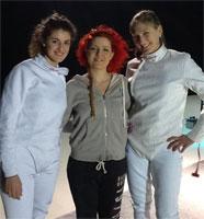 Noemi con Cristina Pierobon ed Eugenia Falqui