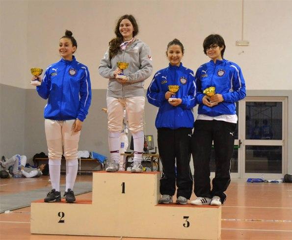 Premiazione fioretto femminile Coppa Calabria 2014