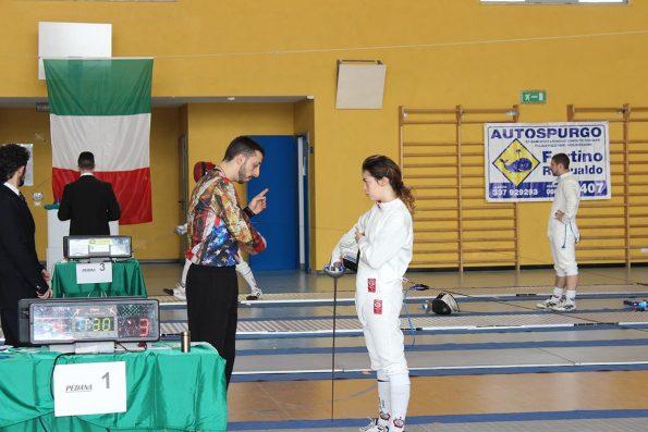 L'istruttore Bruno con Sofia Azzato