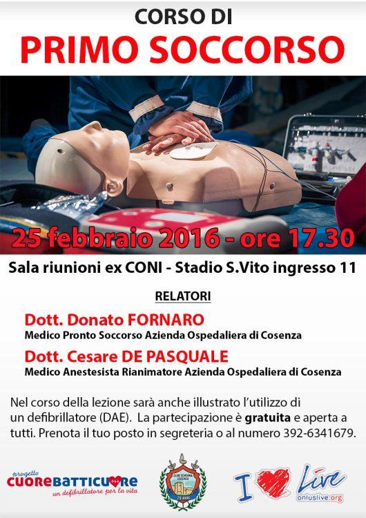 Corso di primo soccorso a Cosenza