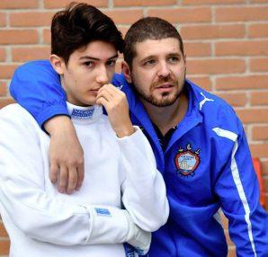 Gustavo Valente con l'istruttore Marco a Ravenna