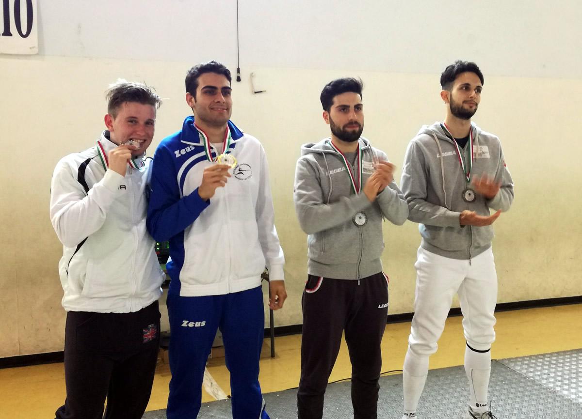 podio spada maschile coppa calabria 2017