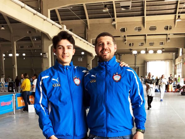 Gustavo Valente con Marco Perri alla Coppa Italia Cadetti 2018