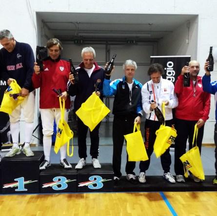 Prima Prova Master a Conegliano: il podio di spada cat. 2
